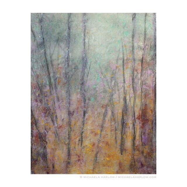 Muted  Grove, 2014. Pastel and Charcoal on Paper