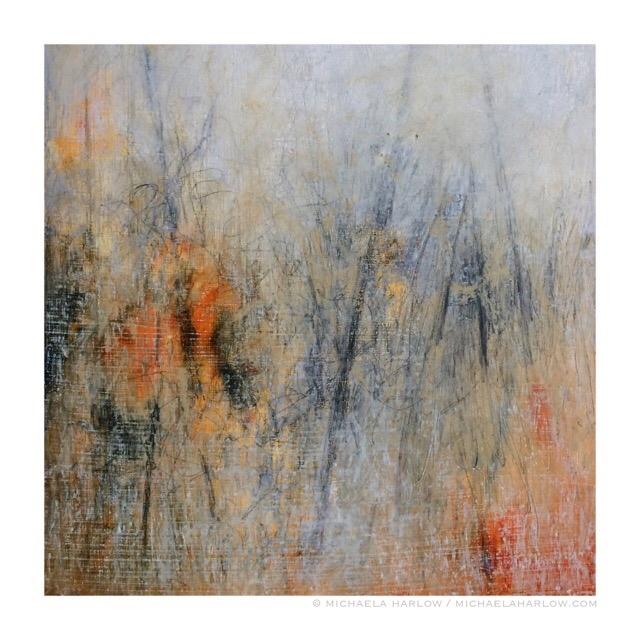Fog of Memory, 2015. Oil & Graphite on Wood Panel