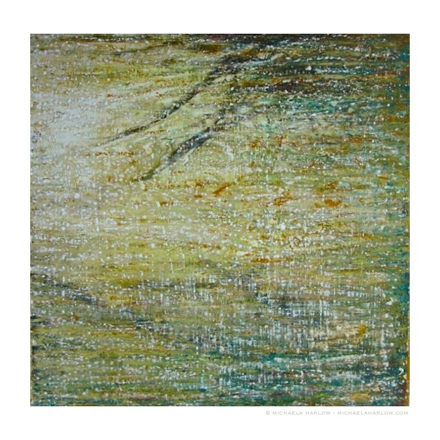 Green River, 2011. Oil and Cold Wax on Panel