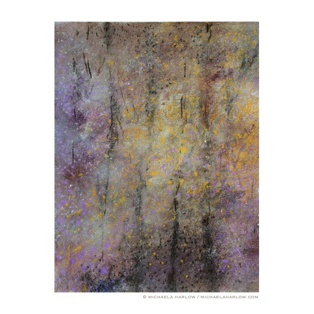 Bramble Wood, 2014. Charcoal & Pastel on Paper.