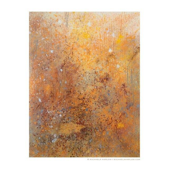 In Saffron Wood, 2014. Pastel on Paper.